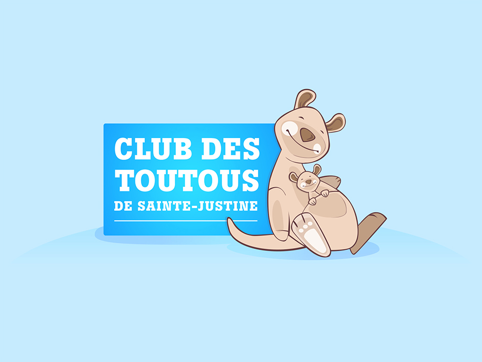 Logo du Club des toutous de Sainte-Justine. Club pour les patients de l'hôpital.