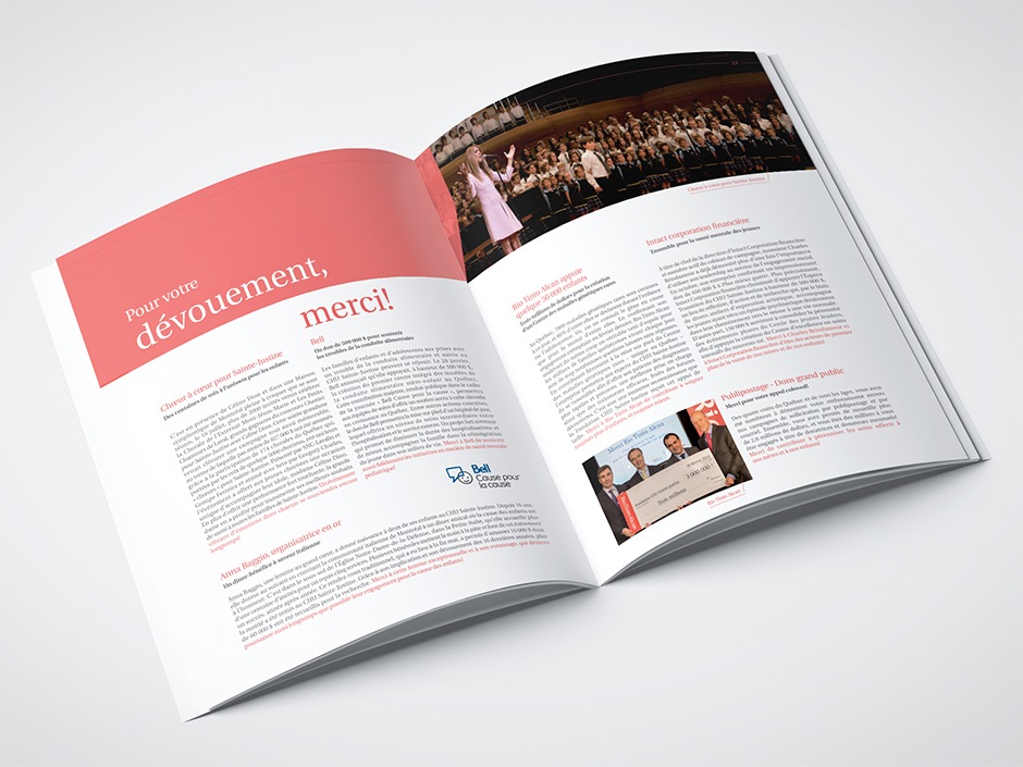 Rêver l'avenir. Rapport annuel 2014-2015 de la Fondation CHU Sainte-Justine.