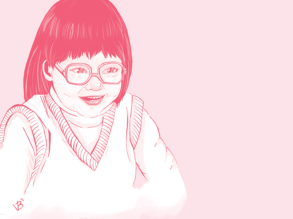 Illustration pour un projet personnel. Caricature d'une collègue, Geneviève.