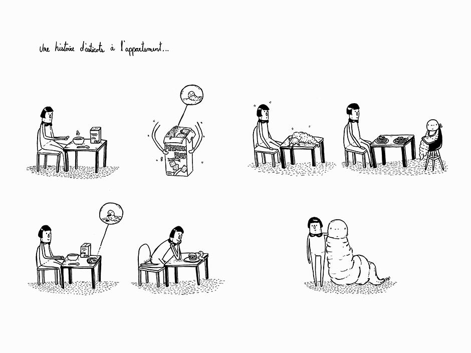 Illustration pour la logique du calendrier. Bande dessinée collective montréalaise.