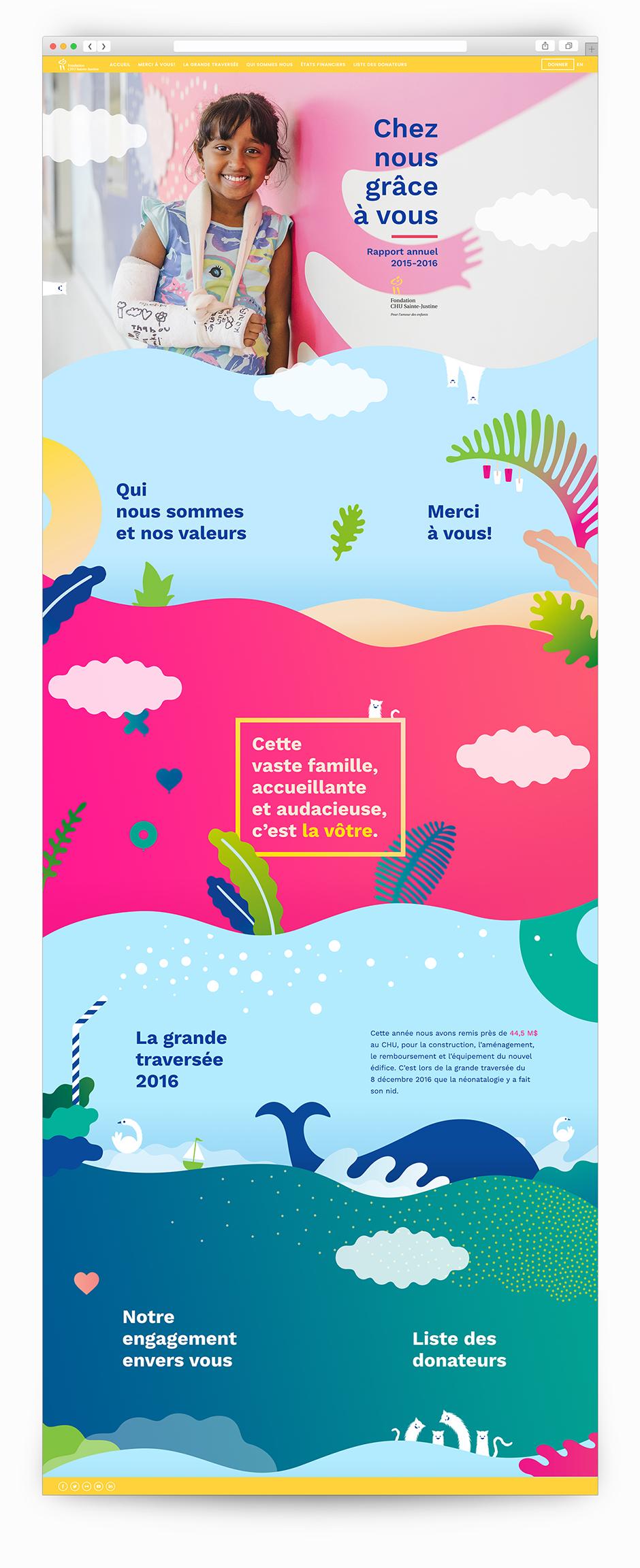 Rapport annuel 2016-2017 de la Fondation CHU Sainte-Justine, Grâce à vous.
