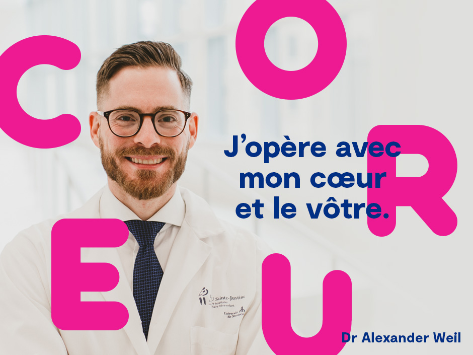 Publipostage de la Sainte-Valentin de la Fondation CHU Sainte-justine.